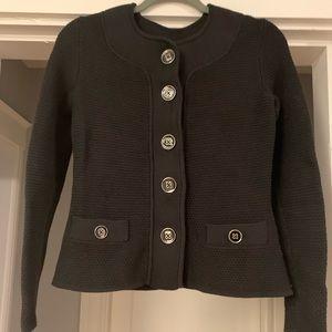Charter Club button petite sweater